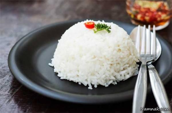 عوارض مصرف بیش از اندازه برنج سفید
