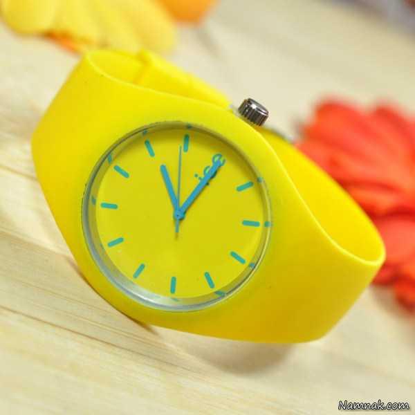 ساعت های مچی رنگی دخترانه 2015